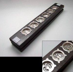 Traditional Korean cookie mold of organ pattern